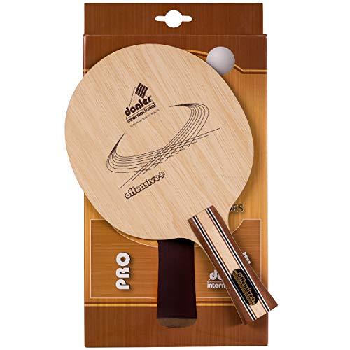 Donier Profi Tischtennis Schlägerholz | Off+ | Ping Pong Schlägerhölzer | Hergestellt in der EU | 5-Schicht Holz, Moderate Schnelligkeit, Große Trefferzone | Hohe Spielgenauigkeit, Technische Angriffe (Konkav)