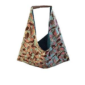 Bentotasche Origamibag Geschenktasche Einkaufsbeutel Stofftasche Wellensittich Schultertasche handgemacht handmade