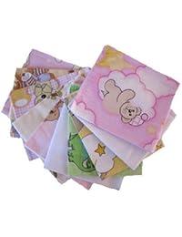 Flanelle couches mini-40/35-10-pack pour les filles gant de toilette doux