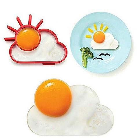 Petit Déjeuner Creative Coque en silicone mignon Soleil Nuage Oeuf Moule à œufs au plat Moule à pancake Moule enfants DIY cuisson outils
