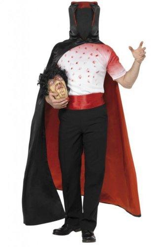 Tod Kopfloser Mann Halloween Herren Kostüm Karneval Größe 48/50 (Kopfloser Mann Halloween-kostüme)