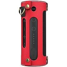 MoKo JBL Flip 3 Funda - Portátil Bluetooth Altavoz Cubierta de Cuero Imitado con Holding Correa y Mosquetón Carrying Cover Case para JBL Flip 3 - Altavoz portáti, Rojo