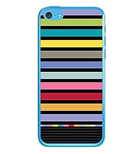 PrintVisa Designer Back Case Cover for Apple iPhone 5c (Wool Colourfull Stripes Multi Colour)