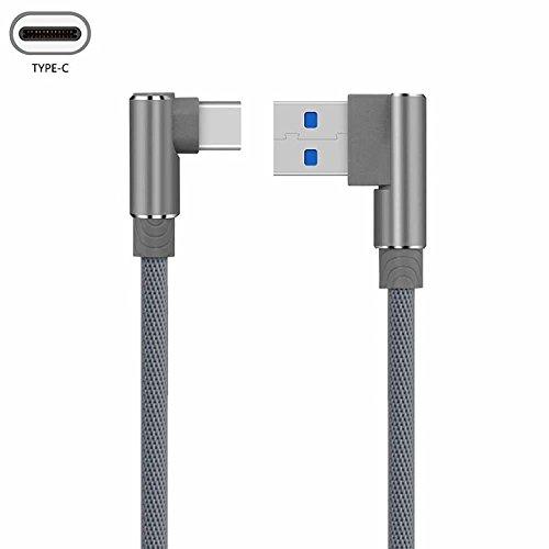 (1M,2M,3M)90 Grad USB Typ C Schnellladegerät Kabel YANSHG® Nylon Schnell Daten Sync USB Typ C Kabel Für Huawei P20 / P20 Pro, OnePlus 5/5T, Samsung S9+/S9, XiaoMi, LG und mehr Android Typ C Gerät