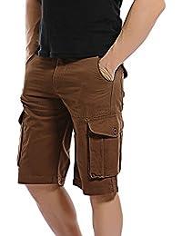 AYG Hommes Cargo Shorts Camouflage Shorts Coton 29-40