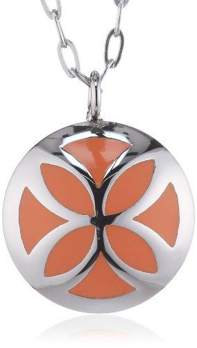 Esprit Damen-Halskette Edelstahl orange ESNL12458B420