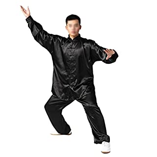 Andux Chinese Traditional Tai Chi Uniforms Kung Fu Clothing Unisex SS-TJF01 (Black, XXXL)