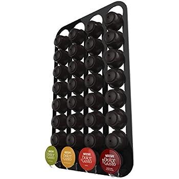 Dolce gusto porte capsule mural pour 32 capsules noir cuisine maison - Porte capsule dolce gusto mural ...