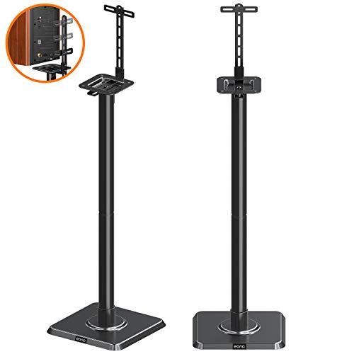 Eono by Amazon Supporti Casse Acustiche Altoparlanti da Terra da Pavimento con Gestione dei Cavi Integrata per Bose JBL Sony Yamaha Ideale per Hi Fi
