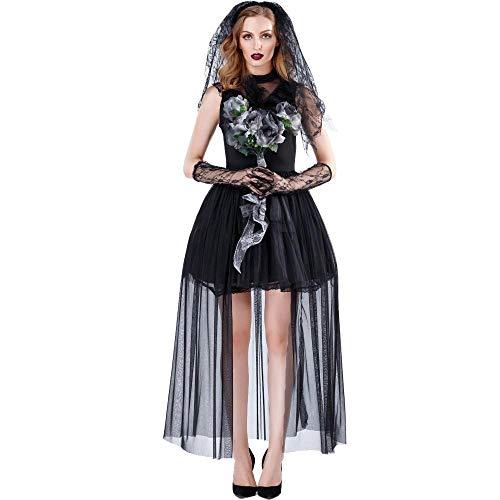 Kostüm Krankenschwester Dunkle - Halloween Nach Cosplay Horror Weiblichen Geist Vampir Braut Halloween Kostüm Dunklen Mantel Hexe Kostüm, Farbe, L