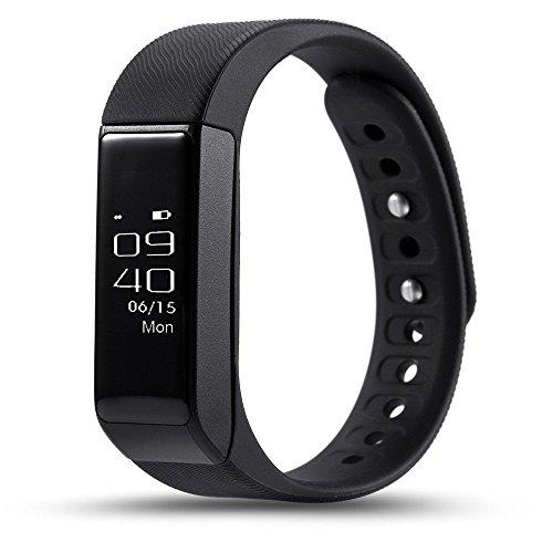 Fitnessuhr mit USB-Stecker Schrittzähler Sportuhr Tracker von Smart Notifications und OLED Touch Display Activity Armband Uhr