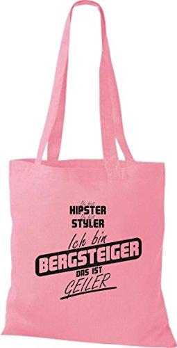 Borsa Di Stoffa Shirtstown Sei Hipster Sei Styler Sono Un Alpinista Che È Rosa Cornea