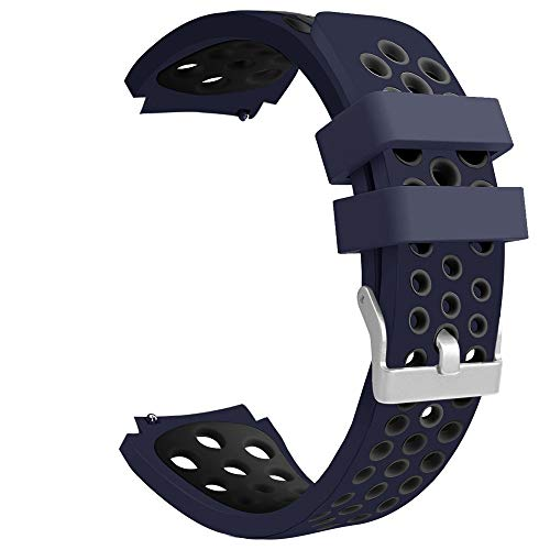 Vamoro Doppelte Farbe Sport-Silikonarmband-Armband für Samsung Galaxy Watch 46mm Silikonband Ersatz Uhren-Armband Ersatzband(K)