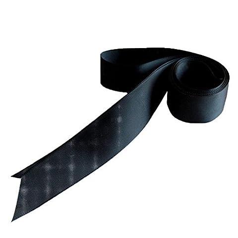 LUFA Simple Classic Ribbon Colorful Sash pour Tenue Robe de Mariée noir