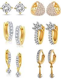 YouBella Golden Plated Hoop Earrings for Women (Golden)(YBECB_12)