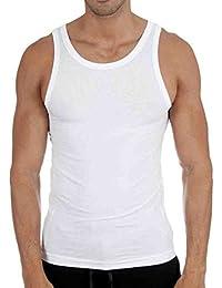 6 x PAQUET Hommes Gilets 100% coton débardeur Gym Entraînement haut paquet Uni coloré