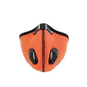 Mimagogo Atmungsaktive Mesh-Druckmaske für Reiten, Outdoor-Maske, staubdicht