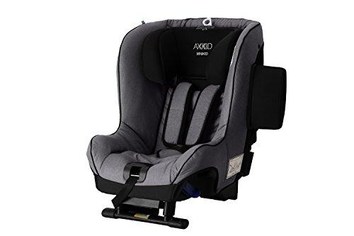 Axkid Minikid 2.0 Kindersitz Reboarder 0-25KG Ohne Isofix Inkl. Sitzverkleinerer Seitenaufprallschutz (grey)