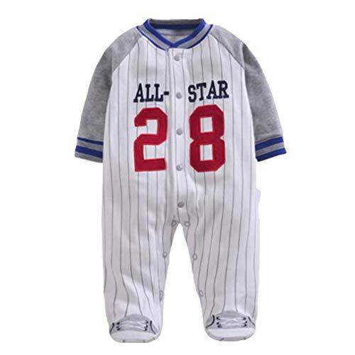 Mxssi Enfant Overall Neugeborenen Strampler Langarm Baby Kleidung Körper Anzug Baumwolle Infant Boy Sport Baseball - Baseball Kostüm Babys