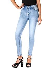 KRISP® Damen Helle Skinny Jeans