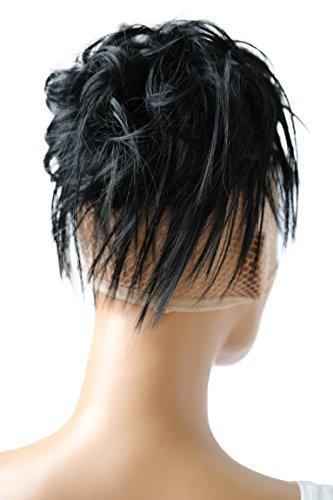 PRETTYSHOP XXL Haarteil Haargummi Hochsteckfrisuren Brautfrisuren VOLUMINÖS gewellter unordentlicher Dutt schwarz #1 G1F