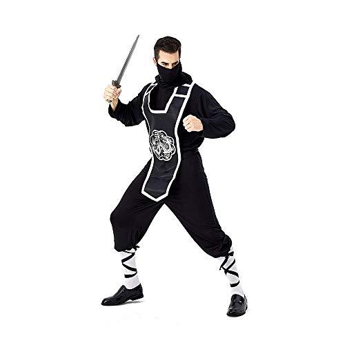 Kostüm Thema Uniformen Partei - LIMIAO Japanische Ninja Bushido Spion Uniform Erwachsenen Code Polyester Cosplay Kostüm Thema Partei Maskerade Club Bühnenkleidung