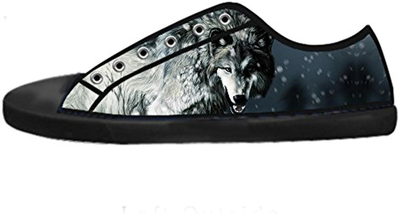 Custom Lupo e e e luna Wouomo Canvas scarpe I lacci delle scarpe scarpe scarpe da ginnastica Alto tetto | Alta sicurezza  8348e5