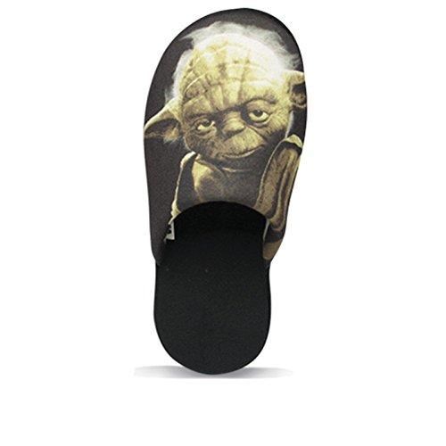 SAMs Hausschuhe Disney STAR WARS Meister Yoda Pantoffel Qualität JEDI MACHT Schlappen Puschen 37-47, TH-PantoYoda Schwarz