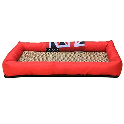 Juneping Hundekiste Bett für Den Sommer, Wasserdicht, Abnehmbar Waschbar, Besonders Geeignet für Welpen Katzen in Kisten Zwinger für Hund Katzen Decke