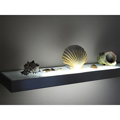 LED Glasbodenleuchte MEMPHIS in Edelstahloptik 900 mm mit Schalter - Unteren Metallrahmen