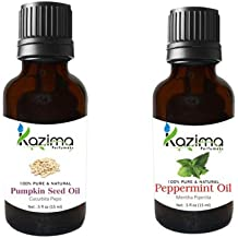 KAZIMA Combo Of Pumpkin Seed Carrier Oil & Peppermint Oil ,15Ml