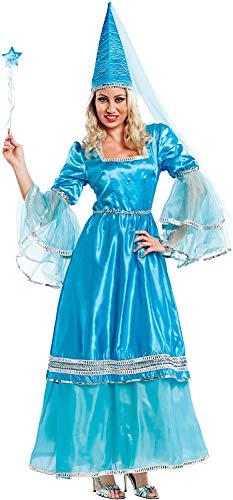 7b07ba996214 Costume di Carnevale da Fata Azzurra Vestito per Donna Adulti Travestimento  Veneziano Halloween Cosplay Festa Party