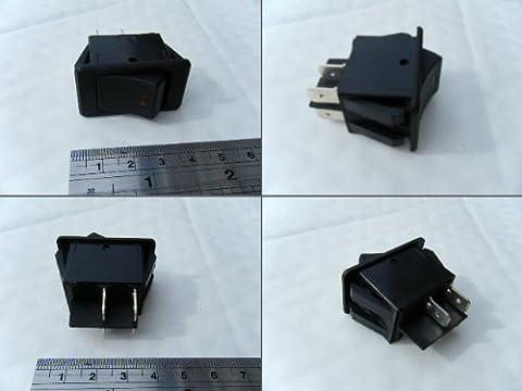 OE qualité Double Pôle 12V 20A Interrupteur à bascule ON OFF LED Ambre