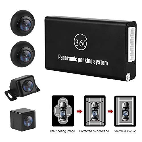 MiCarBa Panoramische Rückfahrkamera 360 Grad-Parksystem, Auto-Auto-Kamera Alle runden Nachtsicht-wasserdichte Rückfahrkamera