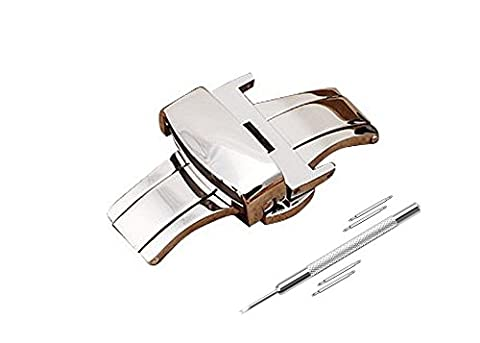 Watch Clasp 20mm Watch Band Stainless Steel Deployment Clasp 20mm Sliver Watch Buckle