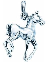 TF schlichter Fohlen-Anhaenger; Sterling-Silber 925