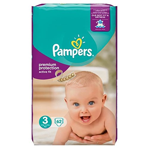 Pampers Active Fit Taille 3 5 a 9 kg 62 couches