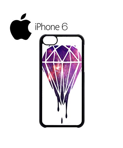 Dripping Diamond Galaxy Swag Mobile Phone Case Back Cover Coque Housse Etui Noir Blanc pour iPhone 6 White Noir