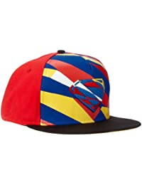 Superman Man of Steel Graphic Logo Red Adjustable Baseball Cap