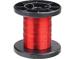 Donau Elektronik LD15-0 - Alambre de Cobre esmaltado, 100 m, Color Rojo