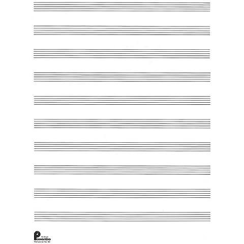 Manuscript Paper (Formerly 52): 10-stave: Passantino Manuscript Paper