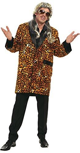 Mann Kostüm Baby Macho (Leoparden-Mantel braun-schwarz für Herren | Größe 56 | 1-teiliges Macho Kostüm | Faschingskostüm für Männer | Leoparden-Mantel für)