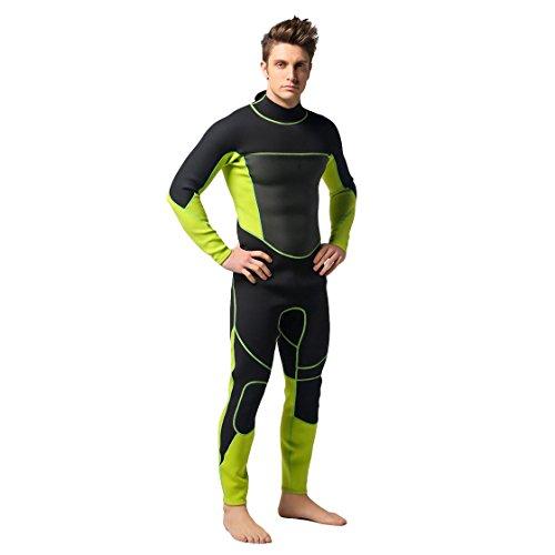 VENIMASEE Herren Langer Neoprenanzug 3mm Schnorcheln Surfen Tauchen Haut Reißverschluss Voller Anzug (Anzug Haut Tauchen)