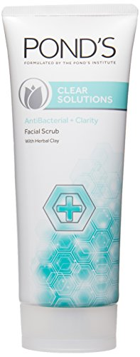 Ponds Clear Solutions Antibacterial + Clarity Facial Scrub (100GM)
