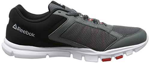 Reebok Yourflex Train 9.0 Mt, Chaussures de Fitness Homme Gris (Alloy/Multicolore Primal Red/Black/White)