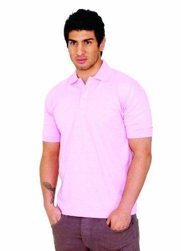 cc99268c65594 100% Coton Jersey Uni Chemise Polo Manche Courte Sports Loisirs Vêtements  De Travail - Noir