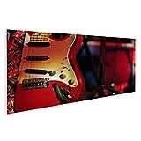islandburner, Tableau Tableaux sur Toile Guitare électrique Rouge Classique dans Un Manche de lumière de scène Blanche. Images Affiche SKG-2