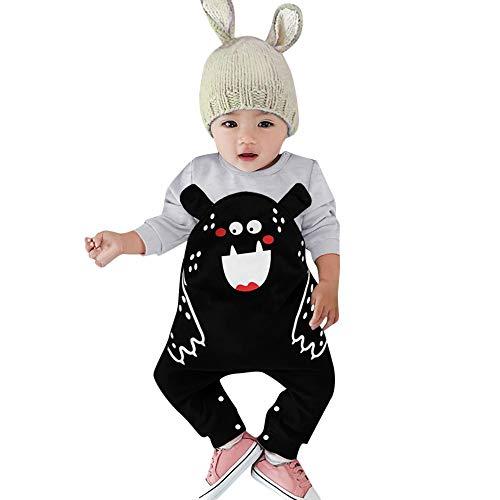 i-uend Baby Cartoon Overall - Säuglingsbaby-Mädchen-Mädchen-Lange Hülsen-Karikatur-Bärn-Druckspielanzug-Overall-Kleidung für -