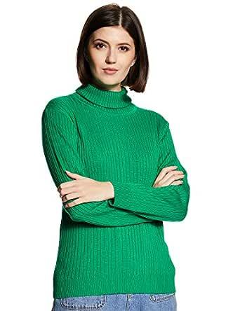 ABOF Women's Synthetic Pullover (BOA19AWWWSW3006548_Green_S)