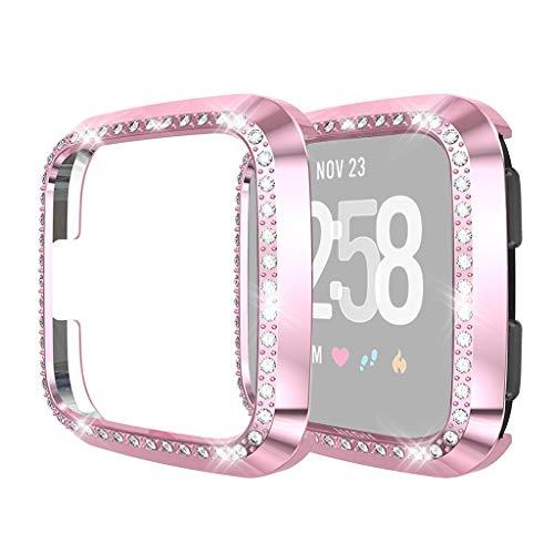Happy Event kompatibel für Fitbit Versa/Lite Smart Watch Ersatz Soft Luxury Crystal Displayschutzfolie Hülle Schale Schutzrahmen für Fitbit Versa/Lite Smart Watch (Schuhe Crystal-nike)
